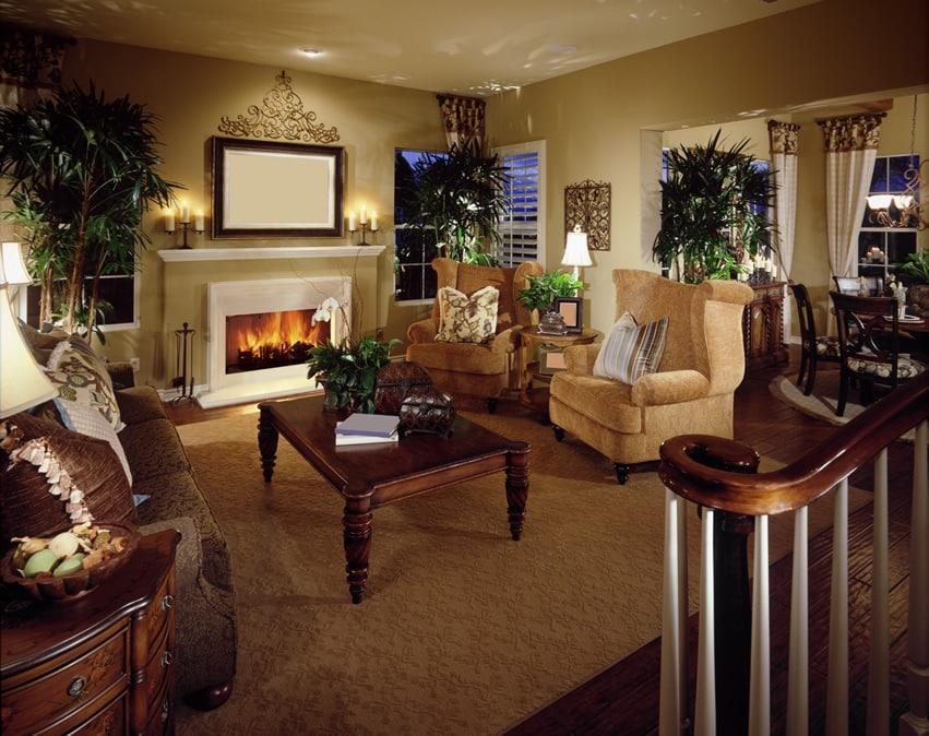 Interior designed living room for home staging