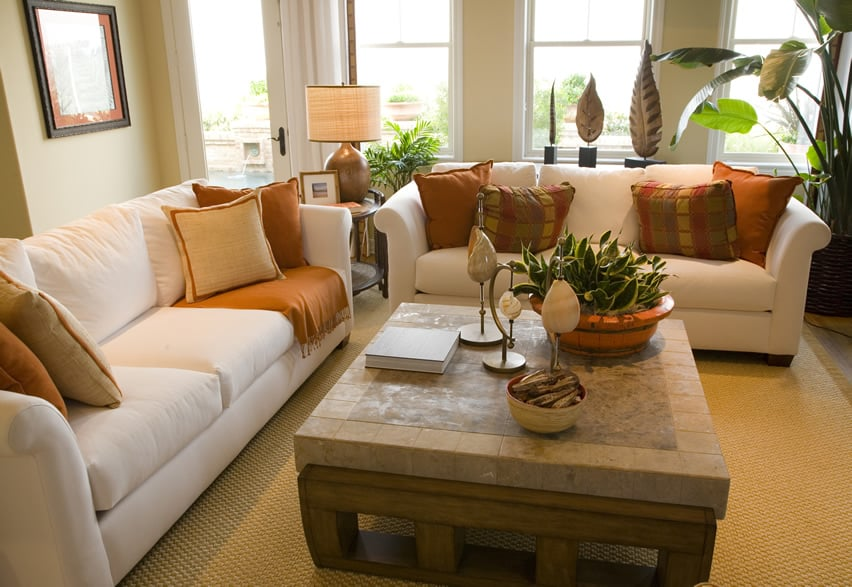 this simple living room gives a very homey and comfortable vibe with