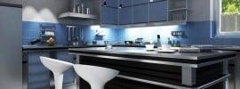 refined-modern-kitchen-blue-black-theme