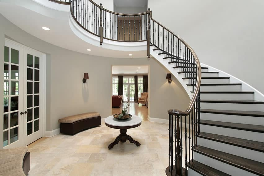 Foyer Stairs Design : Gorgeous foyer designs decorating ideas designing idea