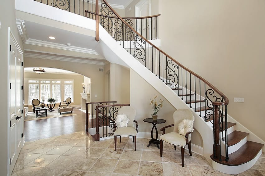 Foyer Staircase Decorating : Gorgeous foyer designs decorating ideas designing idea