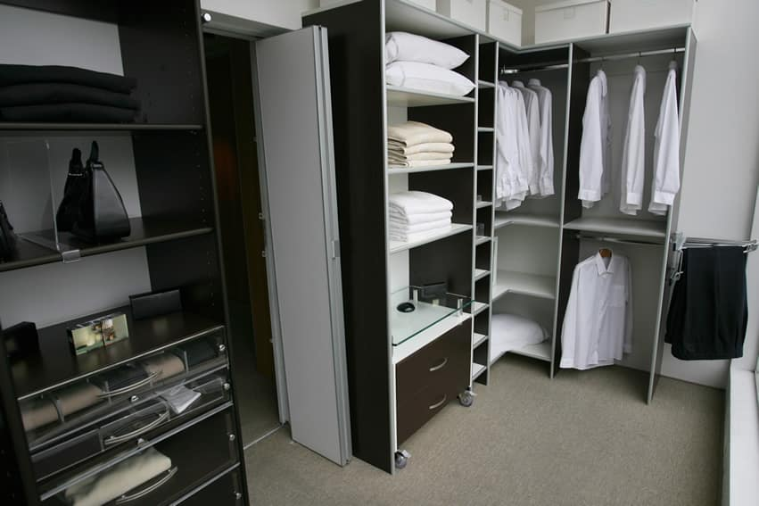 Modern clothing closet