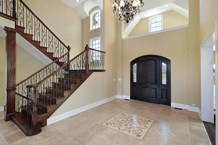 Large Tile Foyer : Gorgeous foyer designs decorating ideas designing idea