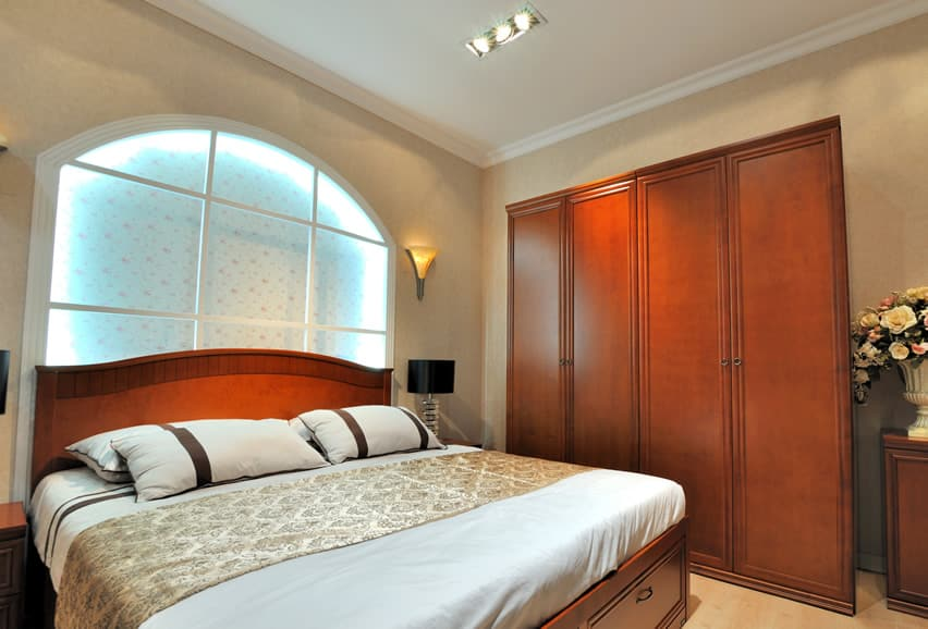 Tall double door bedroom wardrobe