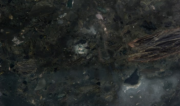 Volcano Black Granite Slab from Brazil