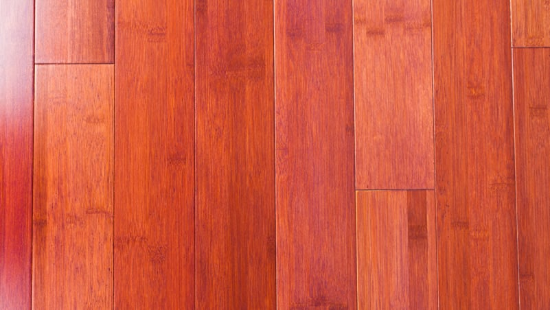 Bamboo flooring red stained