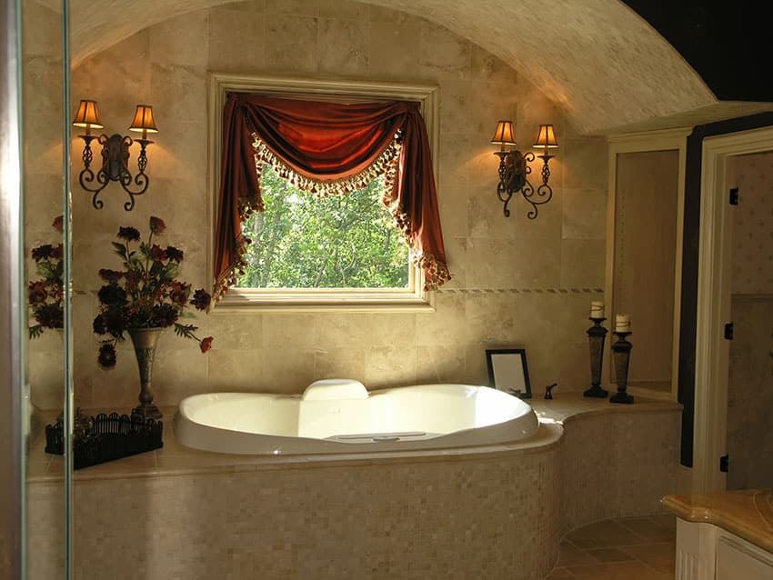 Create a spa bathroom design for the ultimate bathroom for Bathroom jacuzzi decor