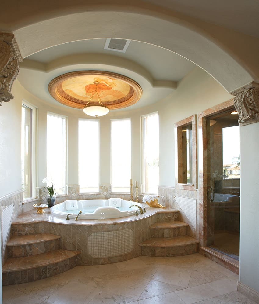 137 bathroom design ideas pictures of tubs showers for How big is a bathtub