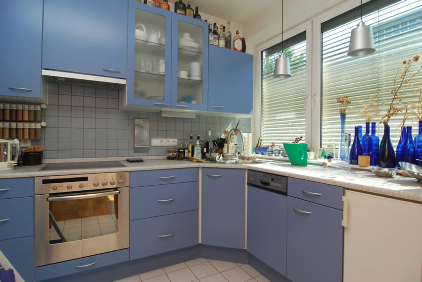 27 blue kitchen ideas (pictures of decor, paint & cabinet designs ...