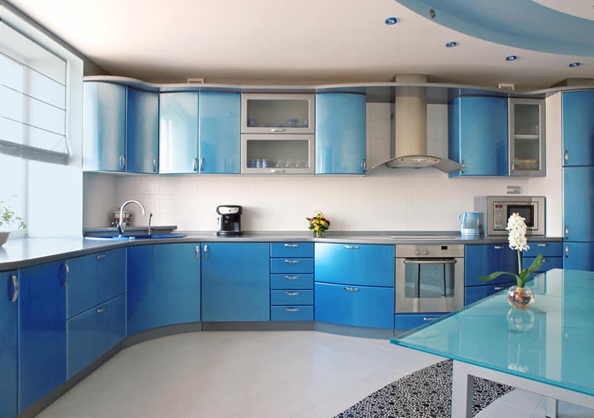 27 blue kitchen ideas pictures of decor paint cabinet for White and blue kitchen ideas