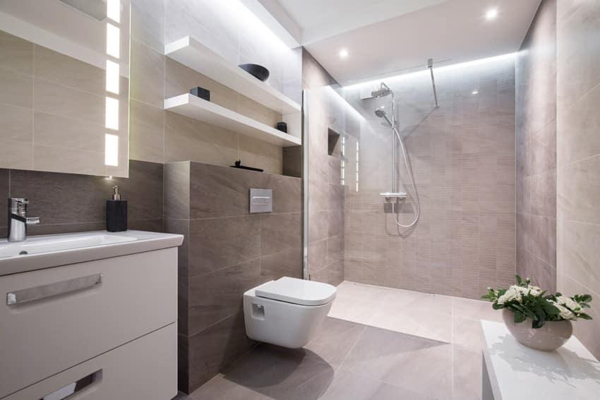 Clean contemporary design bathroom