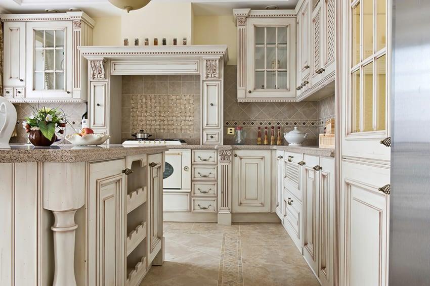 Thiết kế tủ bếp trắng
