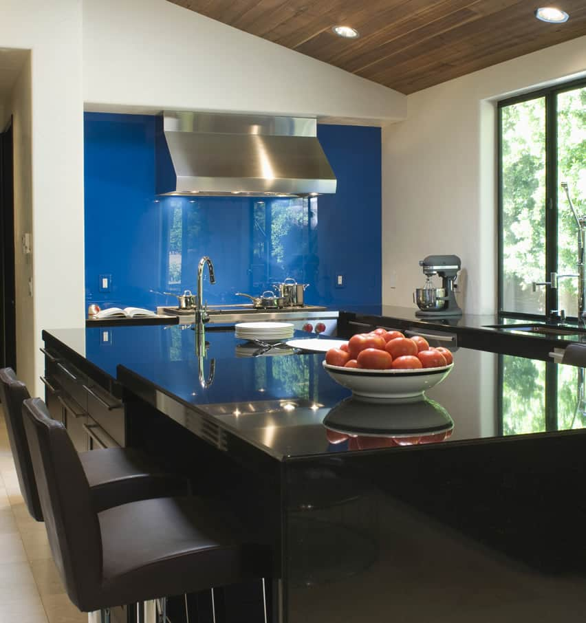 Kitchen Accent Wall: 27 Blue Kitchen Ideas (Pictures Of Decor, Paint & Cabinet