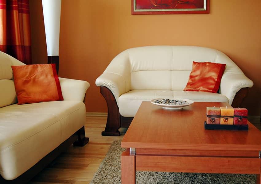 pastel-orange-painted-living-room