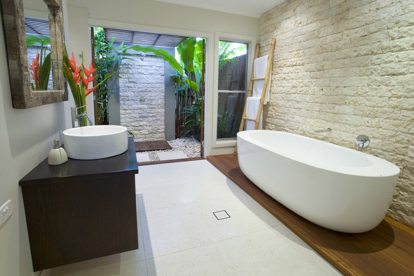 137 bathroom design ideas pictures of tubs showers for Tropical bathroom ideas
