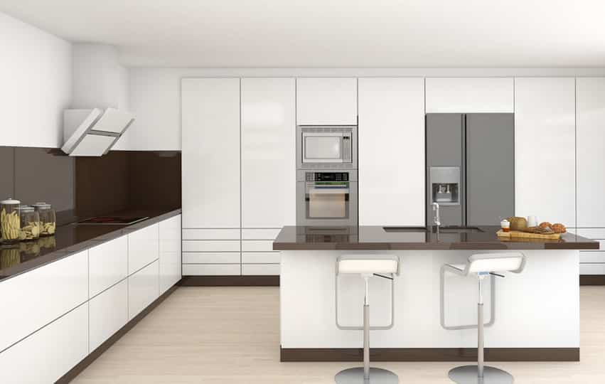 Image gallery modern white kitchen for Kitchen designs modern white