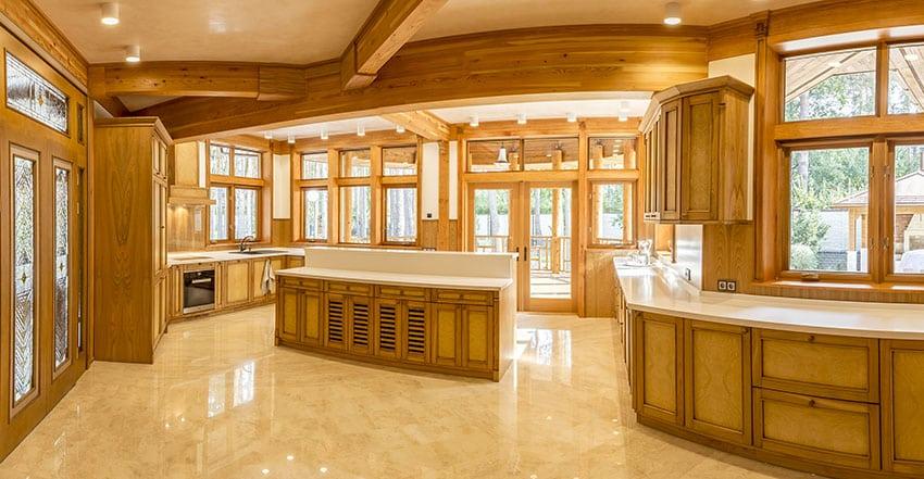 Amazing Custom Wood Luxury Kitchen
