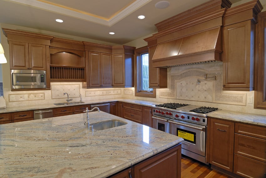 Kitchen Counter Top Ideas Cream Color Kitchen Counter With Light Wood