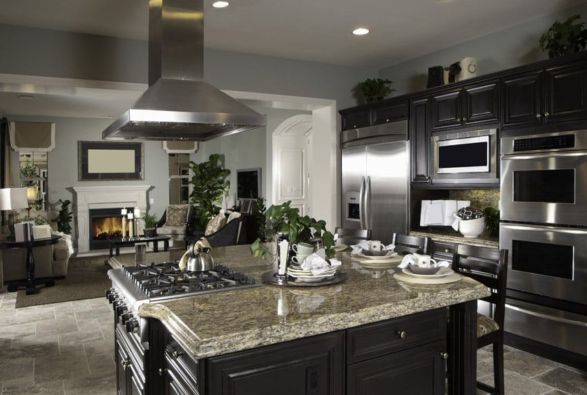 37 high end dark wood kitchens photos designing idea for Dark wood kitchens with light countertops