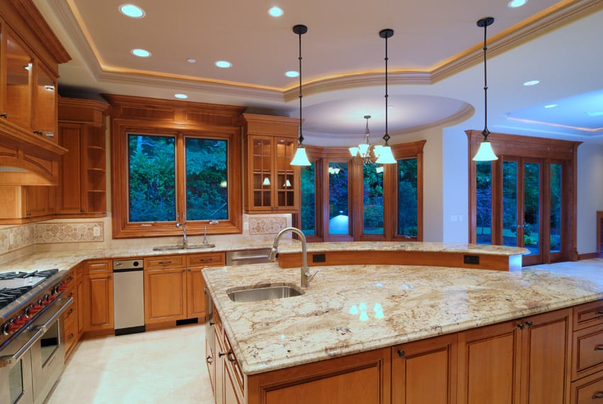 Designer kitchen with high end touches