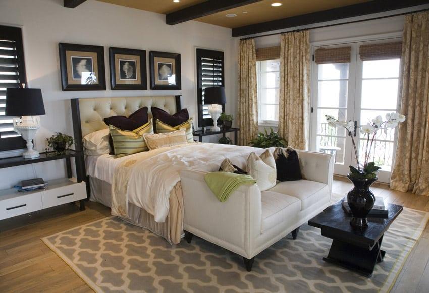 Elegant designed master bedroom