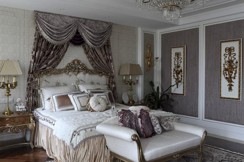 Elegantly designed bedroom with decorative trimwork