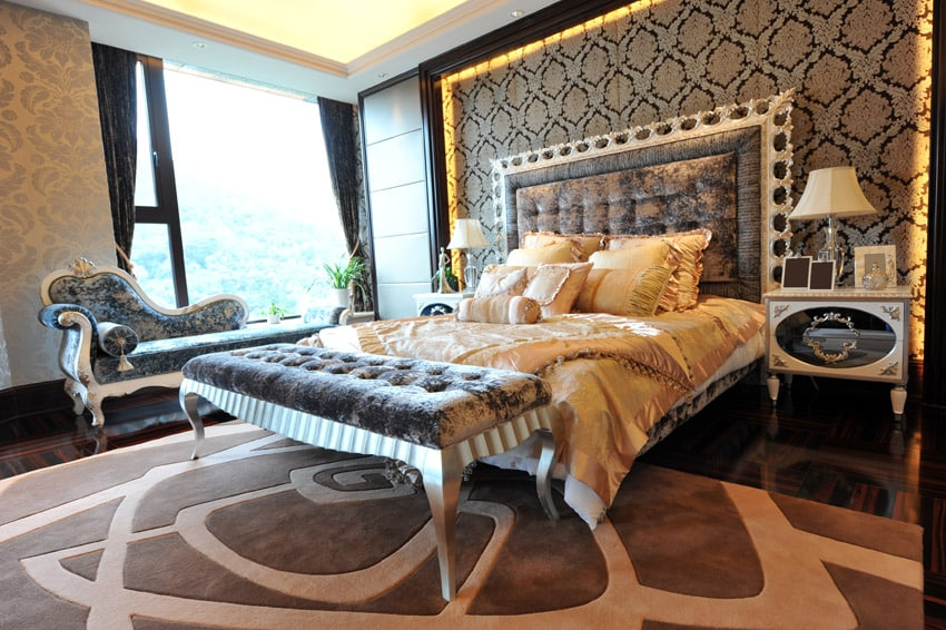 Gorgeous design master bedroom penthouse