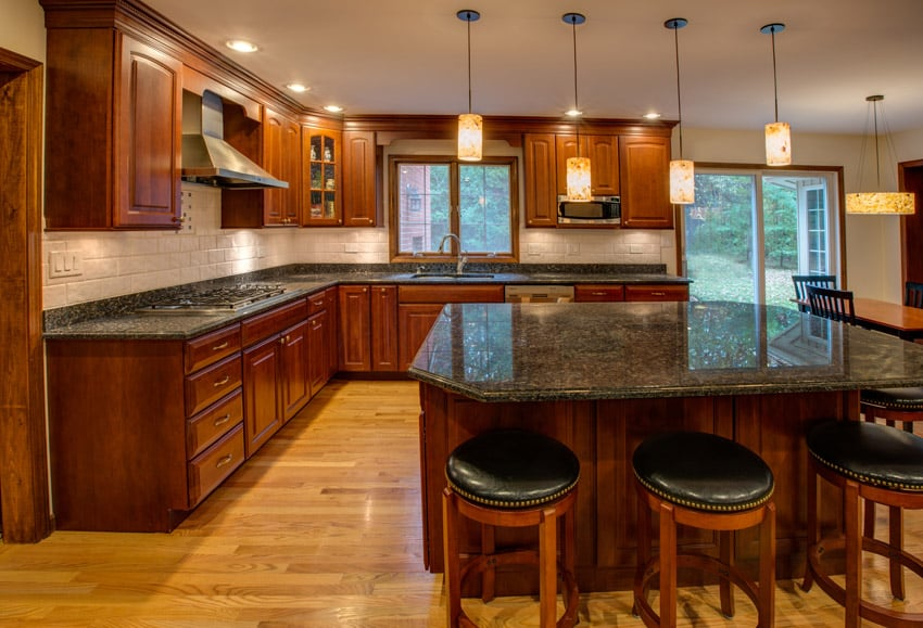 High end dream kitchen with large island