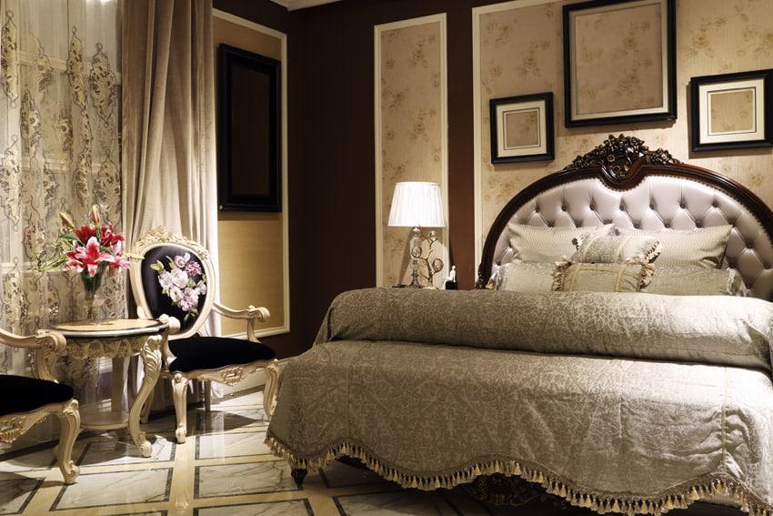 Princess master bedroom design cream theme