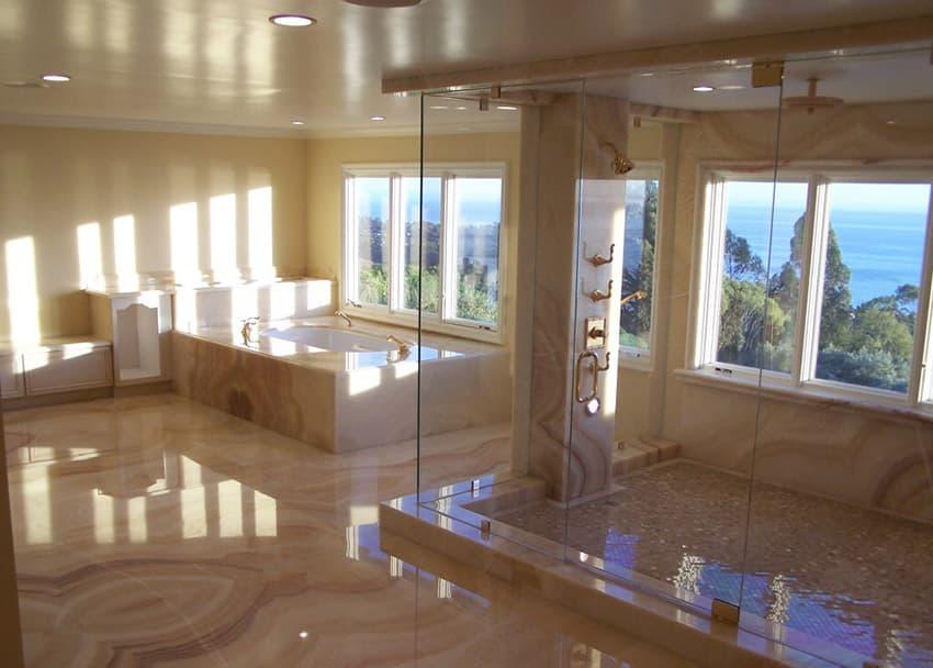 rainfall-shower-with-frameless-showerdoor-in-master-bath