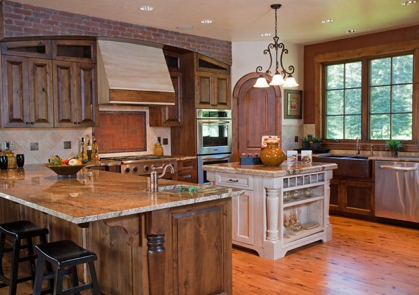 Rustic luxury custom wood kitchen