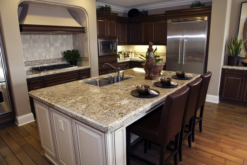 Upscale wood kitchen with new stainless appliances