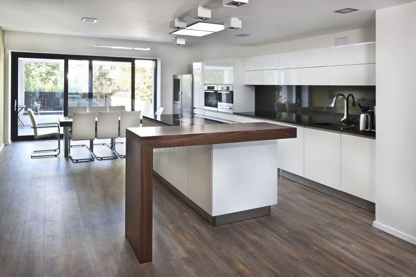 Bright modern kitchen with custom island