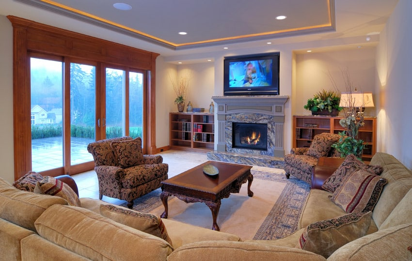 Comfy sectional couch in living room