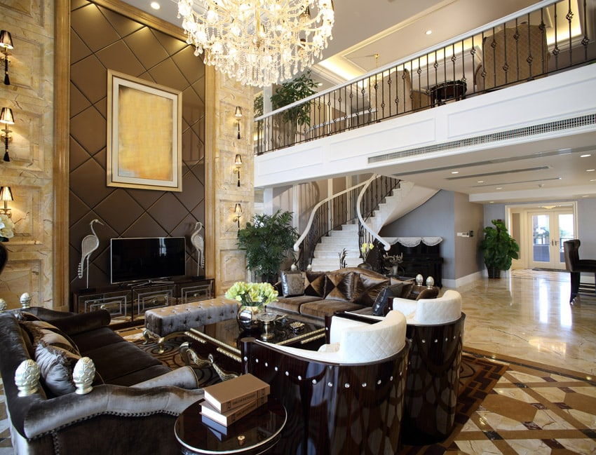 Formal living room with open balcony