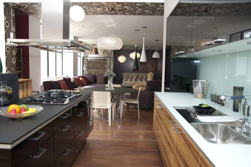 Galley style modern kitchen