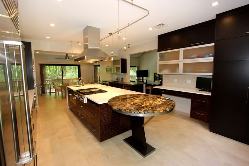 Large modern kitchen in expensive home