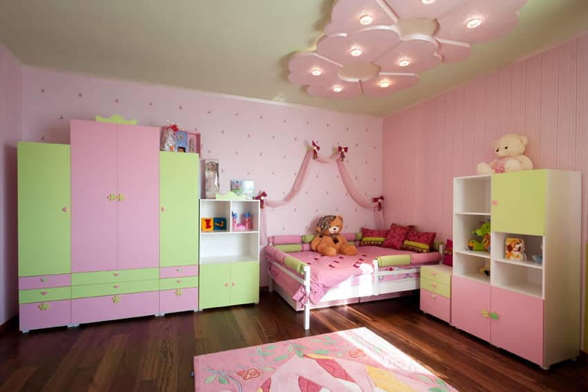 Pastel color girl's bedroom