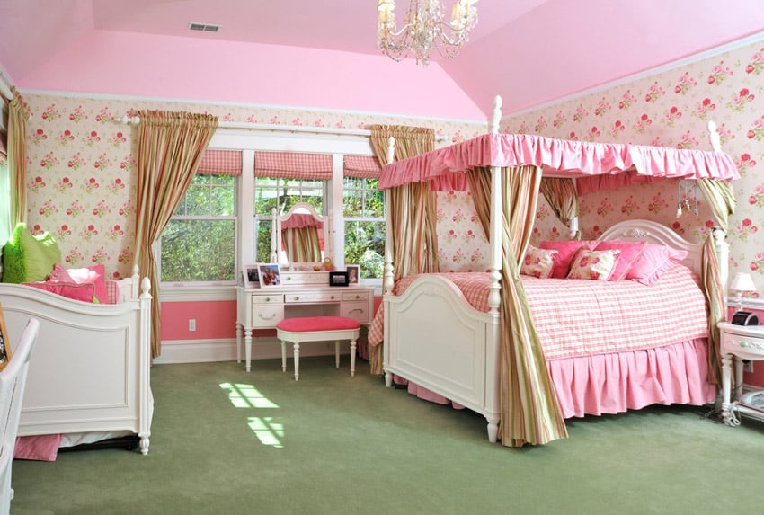 Little girl princess bedroom design