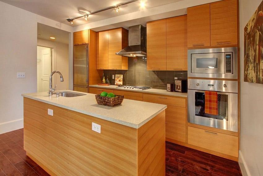 Pine wood modern kitchen