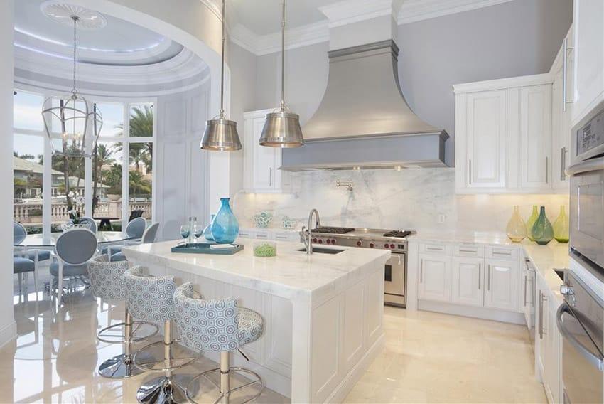 Art deco style kitchen in white