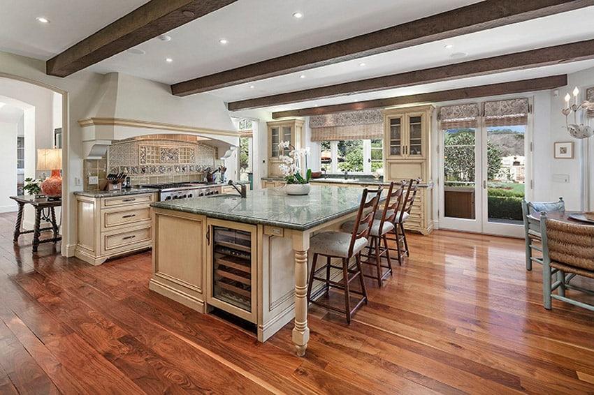 Luxury kitchen with monte cristo satin granite counters