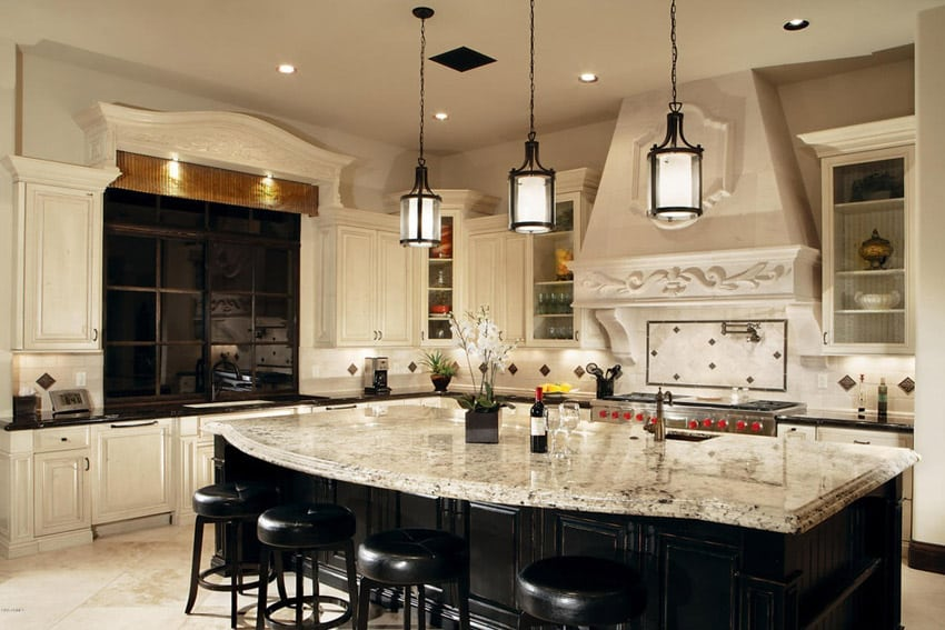 Open Kitchen Countertops : Beautiful traditional kitchen designs designing idea