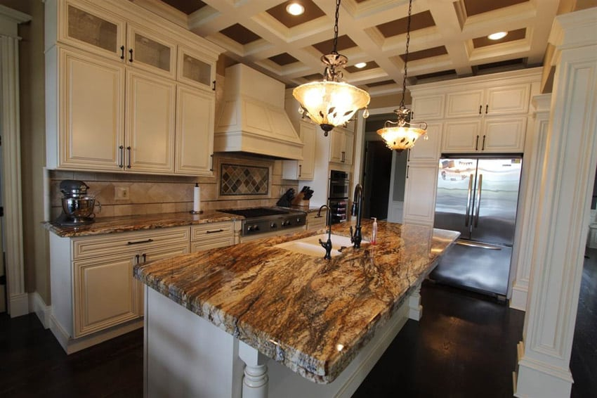 63 beautiful traditional kitchen designs designing idea for Small kitchen granite countertops