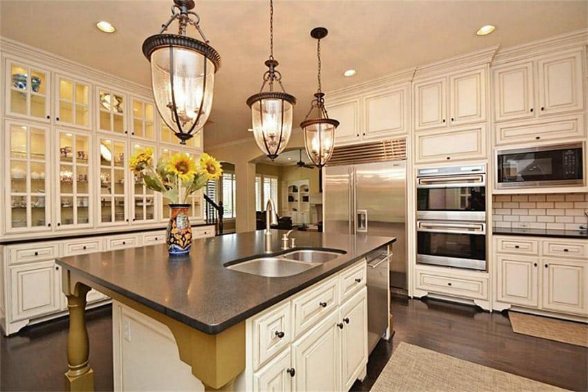White Cabinets Concrete Countertops Photo Album  Home and D?cor