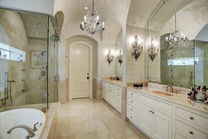 To Our Gallery Of Bathroom Chandelier Ideas A Bathroom Chandelier