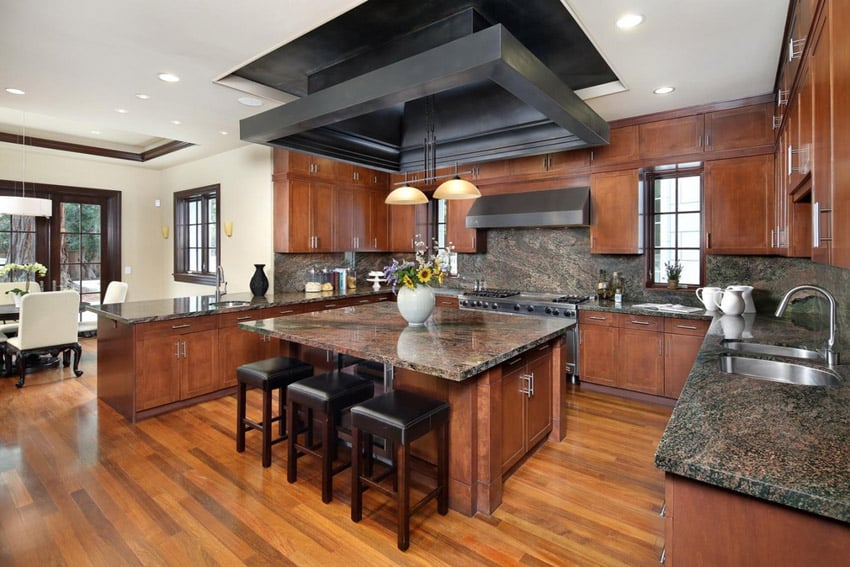 Beautiful kitchen with indian dakota granite for main countertops