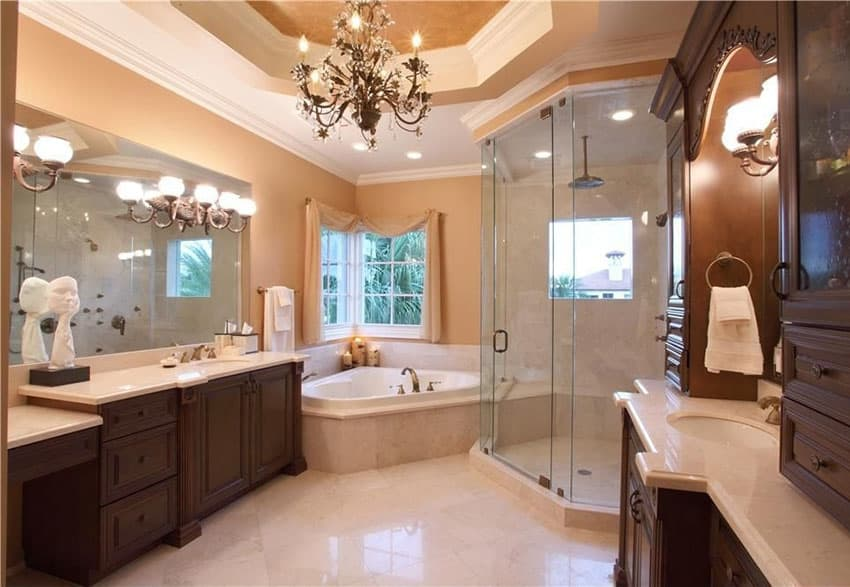 Beautiful Master Bathroom Ideas: 27 Gorgeous Bathroom Chandelier Ideas