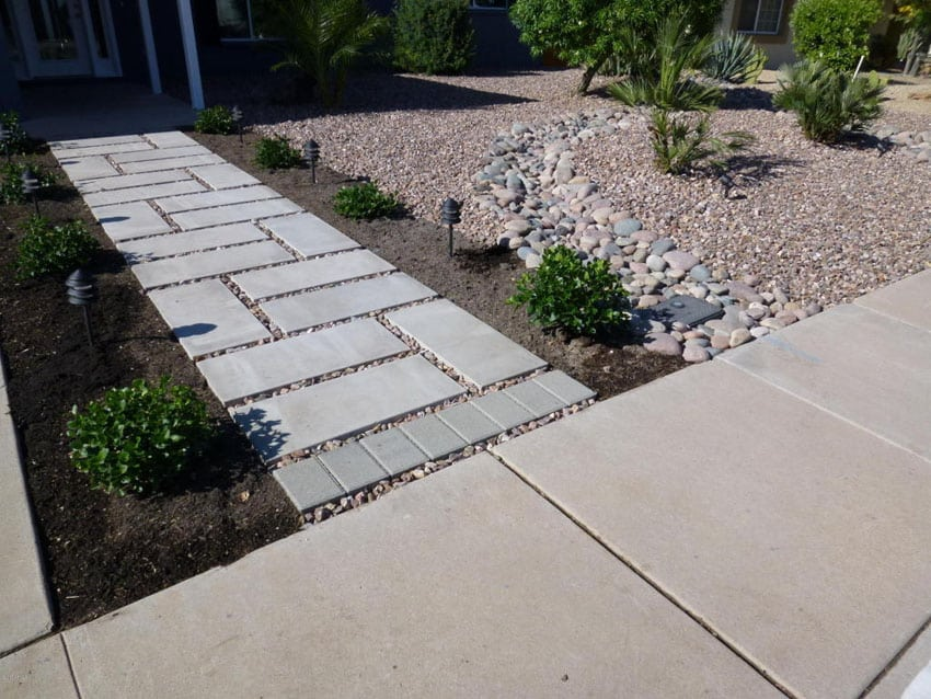 paver walkway design ideas install a walkway 3 delightful designs - Sidewalk Design Ideas