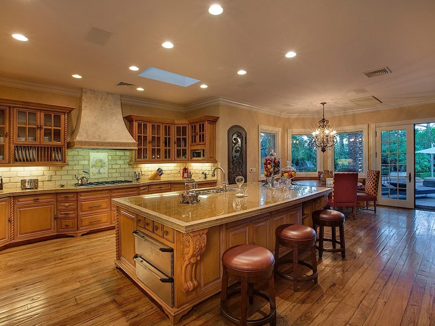 Elegant kitchen design with high end furnishings
